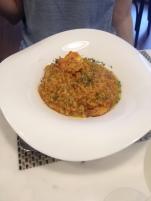 Nicole's shrimp bisque risotto was unreal.