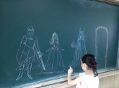 More chalkboard drawing with 해인
