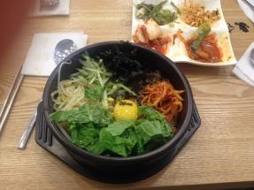 my first dolsot bibimbap in korea bc I'm a monster