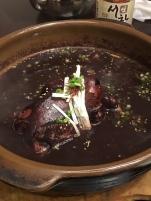 Black chicken and black rice samgyetang