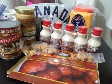 A selection of my beautiful, beautiful Canadian shit haul