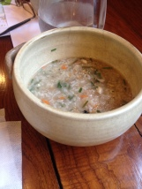 A giant pot of rice porridge also came at the end, not like two of us hadn't just eaten an entire duck.